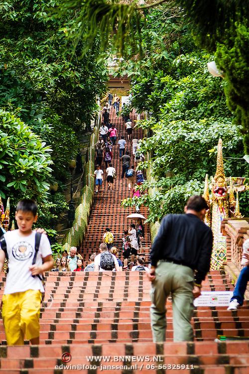 THA/Bangkok/20160729 - Vakantie Thailand 2016 Bangkok, Trap bij de Doi Suthep Tempel
