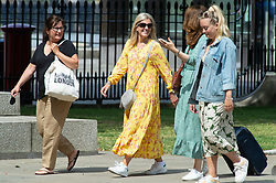 © Licensed to London News Pictures 15/06/2021. Greenwich, UK. People out and about in the grounds of the Old Naval College, Greenwich, London today enjoying the warm weather. Photo credit:Grant Falvey/LNP