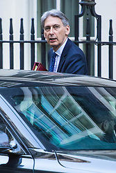 Downing Street, London, November 29th 2016. Chancellor of the Exchequer Philip Hammond leaves 10 Downing Street following the weekly cabinet meeting.