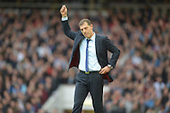 West Ham United manager Slaven Bilic gestures for a yellow card to be given. Barclays Premier League, West Ham Utd v Chelsea at The Boleyn Ground, Upton Park in London on Saturday 24th October 2015.<br /> pic by John Patrick Fletcher, Andrew Orchard sports photography.
