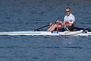 Sarasota. Florida USA.GBR  PR M1X.Andy HOUGHTON Sunday Final's Day at the  2017 World Rowing Championships, Nathan Benderson Park<br /> <br /> Sunday  01.10.17   <br /> <br /> [Mandatory Credit. Peter SPURRIER/Intersport Images].<br /> <br /> <br /> NIKON CORPORATION -  NIKON D500  lens  VR 500mm f/4G IF-ED mm. 200 ISO 1/1600/sec. f 7.1