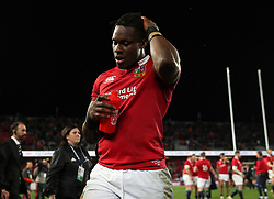 British and Irish Lions' Maro Itoje after the third test of the 2017 British and Irish Lions tour is drawn at Eden Park, Auckland.