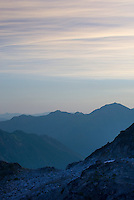 Dawn over the Coast Mountains of British Columbia Canada