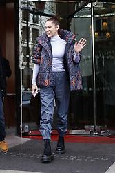 March 5, 2018 - Paris, France - US model Bella Hadid leaves her hotel in Paris, France, on March 5, 2018. (Credit Image: © Mehdi Taamallah/NurPhoto via ZUMA Press)