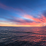Today's Fall Sunrise  at Narragansett Town Beach, Narragansett, RI,  November  5, 2013. #waves #beach #rhodeisland #sunrise