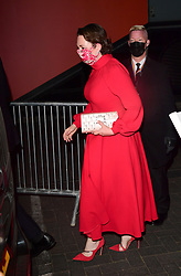 Olivia Colman leaving the BFI Southbank, London, the UK filming hub for nominees at the 93rd Academy Awards. Picture date: Monday April 26, 2021.