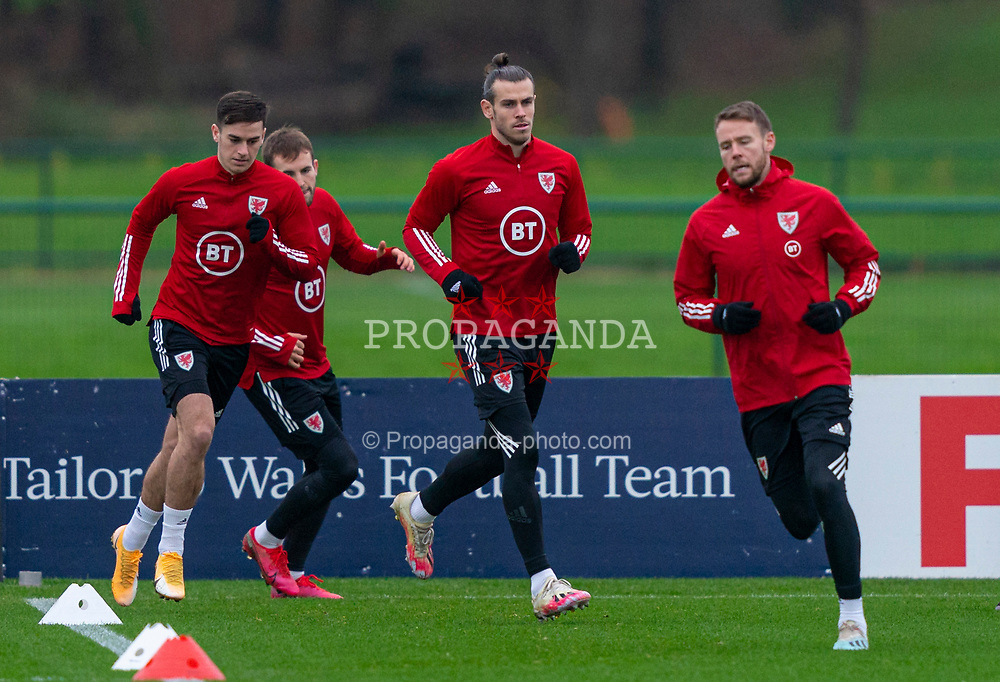 CARDIFF, WALES - Tuesday, November 17, 2020: Wales' captain Gareth Bale (C) during a training session at the Vale Resort ahead of the UEFA Nations League Group Stage League B Group 4 match between Wales and Finland. (Pic by David Rawcliffe/Propaganda)