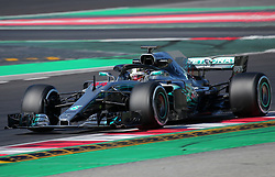 March 9, 2018 - Barcelona, Catalonia, Spain - the Mercedes of Lewis Hamilton during the Formula 1 tests at the Barcelona-Catalunya Circuit, on 09th March 2018 in Barcelona, Spain. (Credit Image: © Joan Valls/NurPhoto via ZUMA Press)