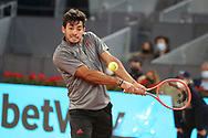 Cristian Garin of Chile during the Mutua Madrid Open 2021, Masters 1000 tennis tournament on May 3, 2021 at La Caja Magica in Madrid, Spain - Photo Laurent Lairys / ProSportsImages / DPPI