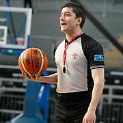 Referee's Ersan KARTAL during their Turkish Basketball Legague Play-Off qualifying second match Efes Pilsen between Pinar Karsiyaka at the Sinan Erdem Arena in Istanbul Turkey on Friday 13 May 2011. Photo by TURKPIX