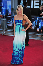 © Licensed to London News Pictures. 11/08/2011. London, England.Ali Bastien  attends the U.K premiere of Cowboys and Aliens Starring Harrison Ford and Daniel Craig at the O2 Cineworld London Photo credit : ALAN ROXBOROUGH/LNP