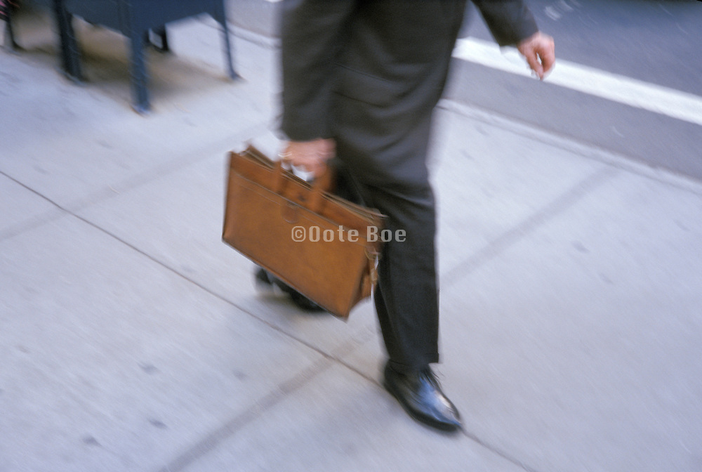 business man hurrying to office