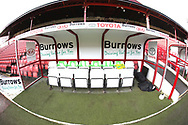 The Home Team dugout inside the stadium prior to the EFL Sky Bet League 1 match between Barnsley and Charlton Athletic at Oakwell, Barnsley, England on 29 December 2018.