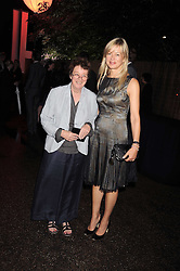 Left to right, artist BRIDGET RILEY and LADY HELEN TAYLOR at the annual Serpentine Gallery Summer Party in Kensington Gardens, London on 9th September 2008.