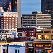 Crossroads District and Crown Center in downtown Kansas City, Missouri.