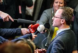 25.02.2018, Innsbruck, AUT, Landtagswahl in Tirol 2018, im Bild Spitzenkandidat Dominik Oberhofer (NEOS) während der TV Runde // during TV Statements for the State election in Tyrol 2018. Innsbruck, Austria on 2018/02/25. EXPA Pictures © 2018, PhotoCredit: EXPA/ JFK