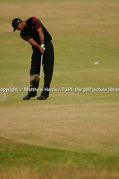 Tiger WOODS (USA) during fourth round The Open Championship 2005,St Andrews Old Course,St Andrews,Fife,Scotland.