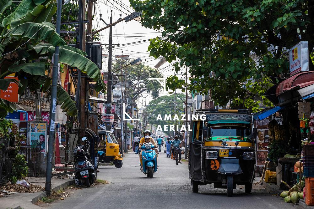 Kochi, India - 05 April 2019: view of Kochi downtown, Kerala region, india.