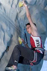Climber Alexandra Eyer (SUI) at World cup competition in Zlato polje, Kranj, Slovenia, on November 15, 2008.  (Photo by Vid Ponikvar / Sportida)