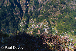 Precipitous cliffs and deep valleys make up much of the volcanic landscape of Madeira, with settlements seemingly taking u any land which isn't completely vertical. MADEIRA, September 23 2018. © Paul Davey