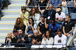 September 7, 2019, New York, New York, U.S.: Meghan Markle, Duchess of Sussex, watches Serena Williams during US Open, along with Anna Wintour, Venus Williams, and Serena's husband Alexis Ohanian at Arthur Ashe Stadium at the USTA Billie Jean King National Tennis Center in New York City. (Credit Image: © Elena Leoni/IPA via ZUMA Press)