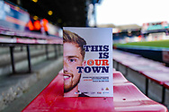 The match day programme before the EFL Sky Bet League 1 match between Luton Town and Wycombe Wanderers at Kenilworth Road, Luton, England on 9 February 2019.
