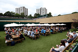 General view of a new food court open on the old court Nineteen on day two of the Wimbledon Championships at The All England Lawn Tennis and Croquet Club, Wimbledon.