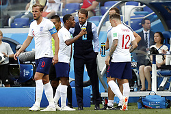 (l-r) Harry Kane of England, Raheem Sterling of England , coach Gareth Southgate of England, Kieran Trippier of England during the 2018 FIFA World Cup Russia group G match between England and Panama at the Nizhny Novgorod stadium on June 24, 2018 in Nizhny Novgorod, Russia