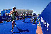Carlyn Fischer during the Discovery Triathlon World Cup Cape Town 2017. Image by Greg Beadle