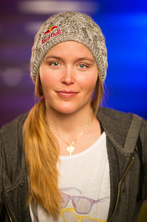 Grete Eliassen poses for a portrait at the RedBull Performance Camp in Aspen Colorado, United States on April 14th, 2013