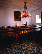 """House Chamber with Matthew Harriw Jouett's 1825 painting """"The Marquis de Lafayette"""", Old State Capitol Building, Frankfort, Kentucky"""