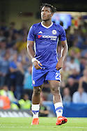 Chelsea striker Michy Batshuayi (23) looking to sky after scoring during the EFL Cup match between Chelsea and Bristol Rovers at Stamford Bridge, London, England on 23 August 2016. Photo by Matthew Redman.