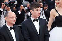 Producer Ed Guiney and actor Barry Keoghan at The Killing of a Sacred Deer gala screening at the 70th Cannes Film Festival Monday 22nd May 2017, Cannes, France. Photo credit: Doreen Kennedy