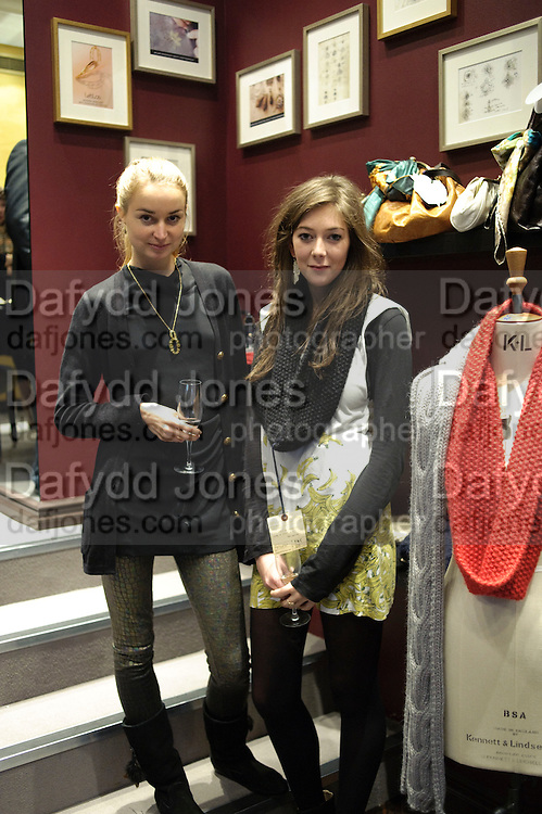 KNITWEAR DESIGNERS; KATHERINE POULTON; ALICE ASHBY, Leblas & The North Circular  party. Leblas, 149 Sloane Street, London SW1. Jewellery shop hosts private event celebrating launch of new knitwear brand The North Circular. 16 December 2009.<br />  *** Local Caption *** -DO NOT ARCHIVE-© Copyright Photograph by Dafydd Jones. 248 Clapham Rd. London SW9 0PZ. Tel 0207 820 0771. www.dafjones.com.<br /> KNITWEAR DESIGNERS; KATHERINE POULTON; ALICE ASHBY, Leblas & The North Circular  party. Leblas, 149 Sloane Street, London SW1. Jewellery shop hosts private event celebrating launch of new knitwear brand The North Circular. 16 December 2009.
