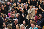 Fans enjoy the Sal's NBL Basketball match, Taylor Hawks v EnviroNZ Bulls, Pettigrew Green Arena, Napier, Saturday, June 26, 2021. Copyright photo: Kerry Marshall / www.photosport.nz
