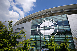 A general view from outside the ground before the Premier League match at the AMEX Stadium, Brighton.