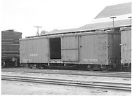 Box car #3033 in Montrose yard.<br /> D&RGW  Montrose, CO  Taken by Richardson, Robert W. - 7/6/1941