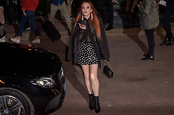 Lindsay Lohan arriving at the Saint Laurent Ready To Wear F/W 2019-2020 show as part of Paris Fashion Week on February 26, 2019 in Paris, France. Photo by Julien Reynaud/APS-Medias/ABACAPRESS.COM