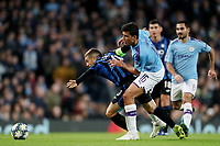 Football - 2019 / 2020 UEFA Champions League - Group C: Manchester City vs. Atalanta<br /> <br /> Alejandro Gomez of Atalanta and Rodri of Manchester City, at the Etihad Stadium.<br /> <br /> COLORSPORT/PAUL GREENWOOD