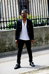 Street style, Victor Cruz arriving at Balmain Spring-Summer 2019 menswear show held at Ministere des Affaires Etrangeres, in Paris, France, on June 24th, 2018. Photo by Marie-Paola Bertrand-Hillion/ABACAPRESS.COM