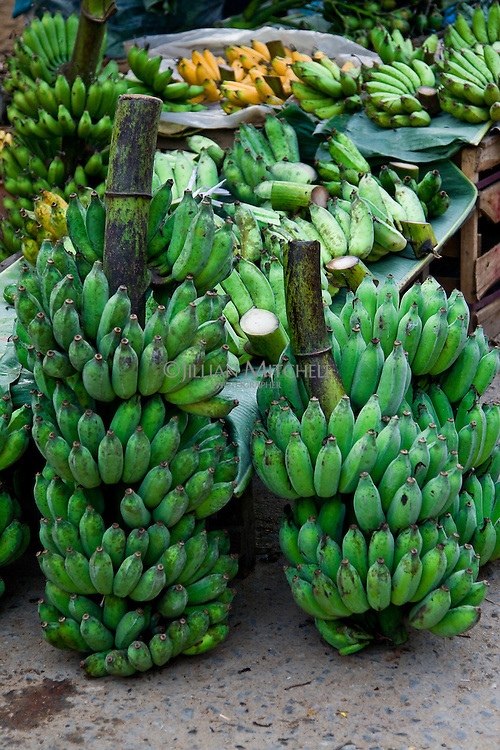 Bananas ready for sale at a local street market in Hoi An, Vietnam.