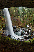 USA, Oregon, Silver Falls State Park, North Falls, Digital Composite HDR
