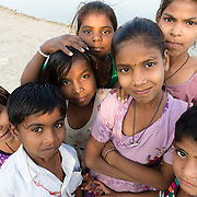 Group of children in village of Chandelao, Rajistan