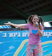 Israel, Tel Aviv, Rinat Gabay an Israeli singer and performer during a performance August 17 2008