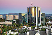 Irvine Skyline and the Airport Tower at Sunset