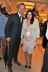 GARY & LAUREN KEMP at a reception to celebrate the launch of 'A Crystal Christmas'  - inspired by Swarovski and held at Harrods, Knightsbridge, London on 8th November 2011.  Following the reception a private dinner was held at One Hyde Park, Knightsbridge.