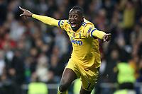 Juventus Football Club's Blaise Matuidi celebrates goal during Champions League Quarter-Finals 2nd leg match. April 11,2018. (ALTERPHOTOS/Acero)