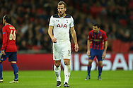 Harry Kane of Tottenham Hotspur looks on. UEFA Champions league match, group E, Tottenham Hotspur v CSKA Moscow at Wembley Stadium in London on Wednesday 7th December 2016.<br /> pic by John Patrick Fletcher, Andrew Orchard sports photography.