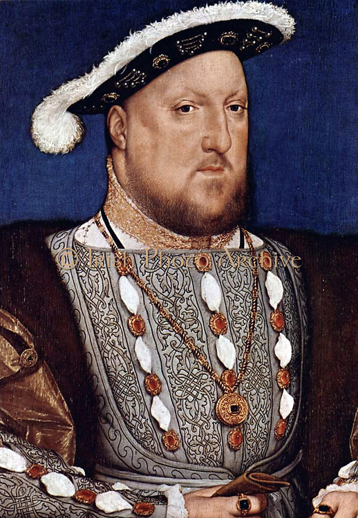 Portrait of Henry VIII. By Hans Holbein Date c. 1536/37. Henry VIII (28 June 1491 – 28 January 1547) was King of England from 21 April 1509 until his death. He was also Lord of Ireland (later King of Ireland) and claimant to the Kingdom of France. Henry wa