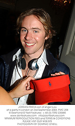 JORDAN FRIEDA at a party in London on 3rd September 2003.PMC 258